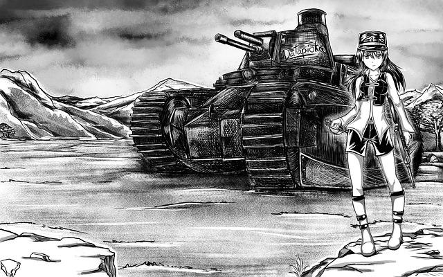 dívka s tankem