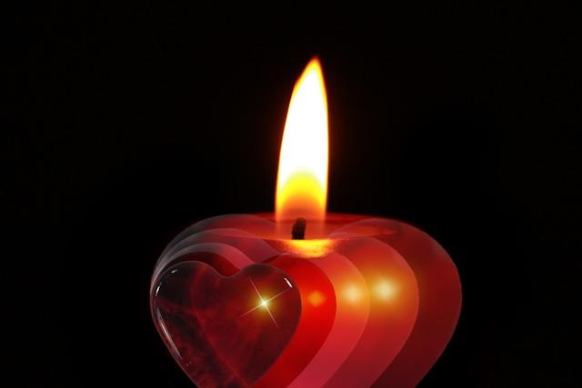 srdíčková svíčka