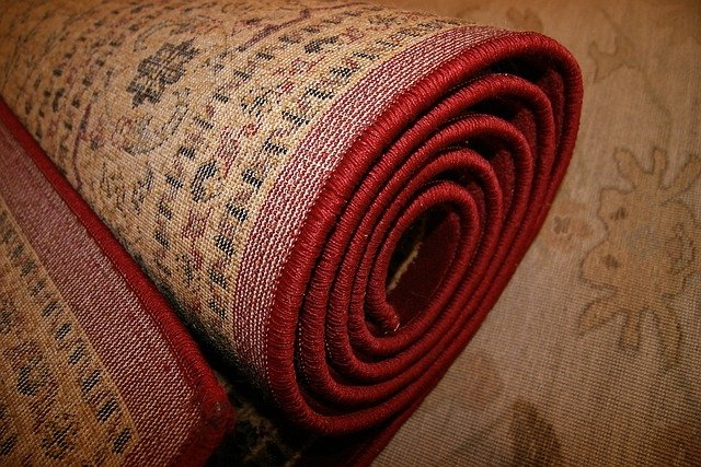 stočený koberec