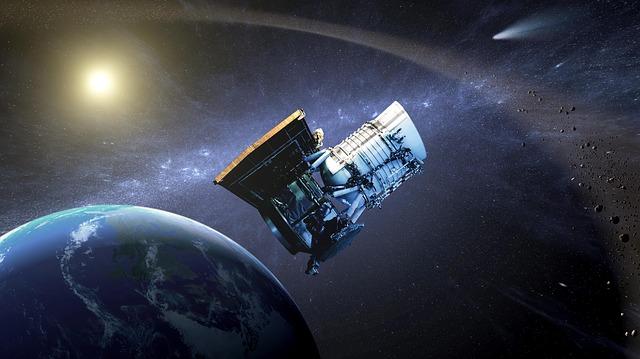družice na oběžné dráze